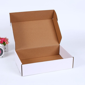 Custom printed recycle e flute folding carton boxes corrugated paper packaging for shipping for mailing