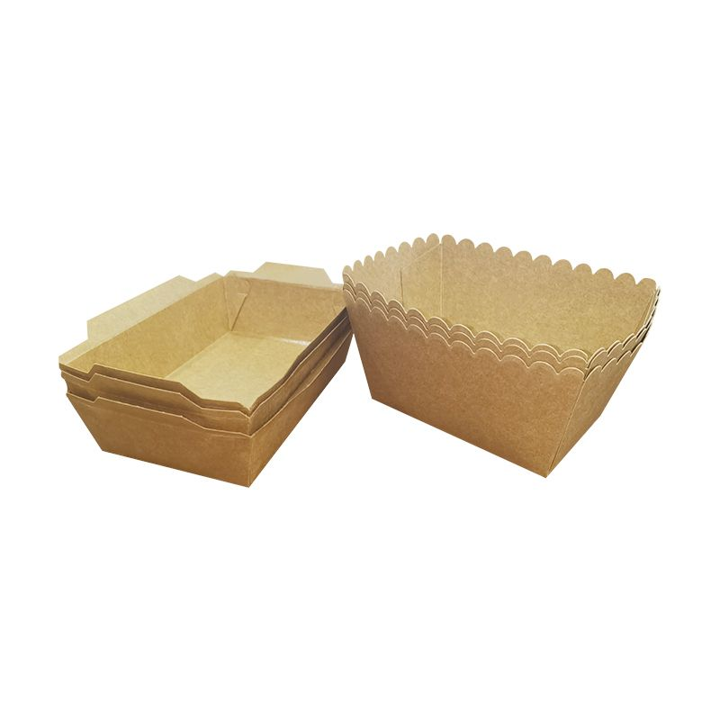 Disposable Kraft Paper PLA coating Fast Food Boat Tray