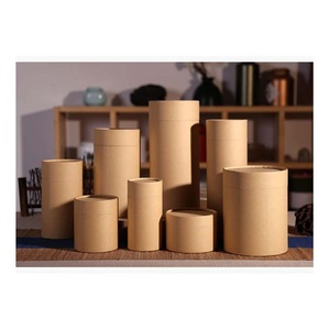 Factory Wholesale Coffee Container Round Paper Packaging Can