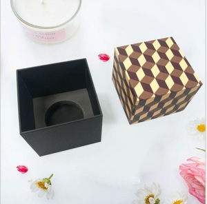 Wholesale Custom Print Logo Luxury  Candle Gift Box for Packaging