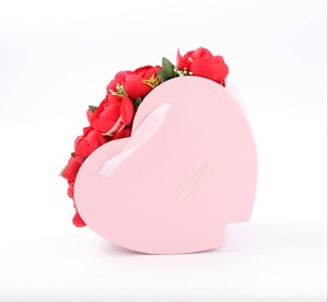 Paper Gift Rose Bouquet Packaging Red High End Heart-shaped Cake Deluxe Black Roses Boxes Heart Shaped Flower Box Cardboard