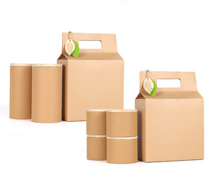Wholesale Kraft Paper Dry Nuts Coffee Bean Cylinder Packaging Container Lid Tea Tin