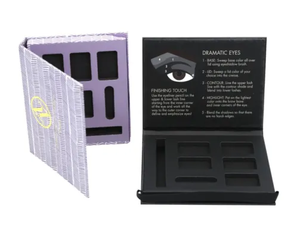 Colorful Exquisite Customize Eye Shadow Boxes Various Designs Cardboard Packaging Eye Shadow Boxes