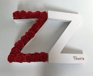 Letter A-Z Design High End Bronzing Printing Paper Gift Packaging Box for Flowers