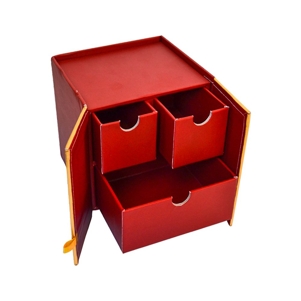 Three Drawer Loft Style Hardboard Paper Cosmetics Packaging Gift Boxes with Door