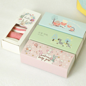 Coated Paper Printing Drawer Socks Packaging boxes with Window Manufacturer OEM