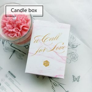 Custom Logo Luxury Foldable Cardboard Gold Stamping Logo Scented Candle Jar Packaging Candle Box