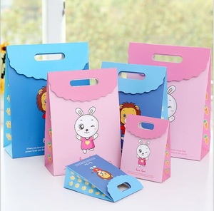 Wholesale special cute rabbit and   lion of  good quality paper gift bag with logo