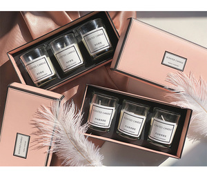 Custom delicate scented candle packaging box