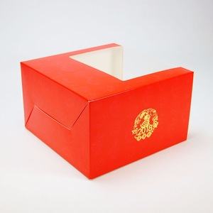 China supplier cap foldable paper packaging box with pvc window