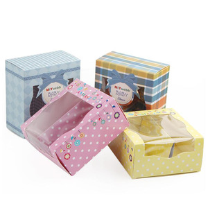 Custom Size Cheap Price Cute PVC Window Baby Shoes Packaging Paper Boxes