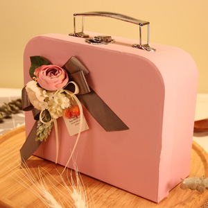 Flamingos Corrugated Children Gift Packaging Carton Paper Box Suitcase
