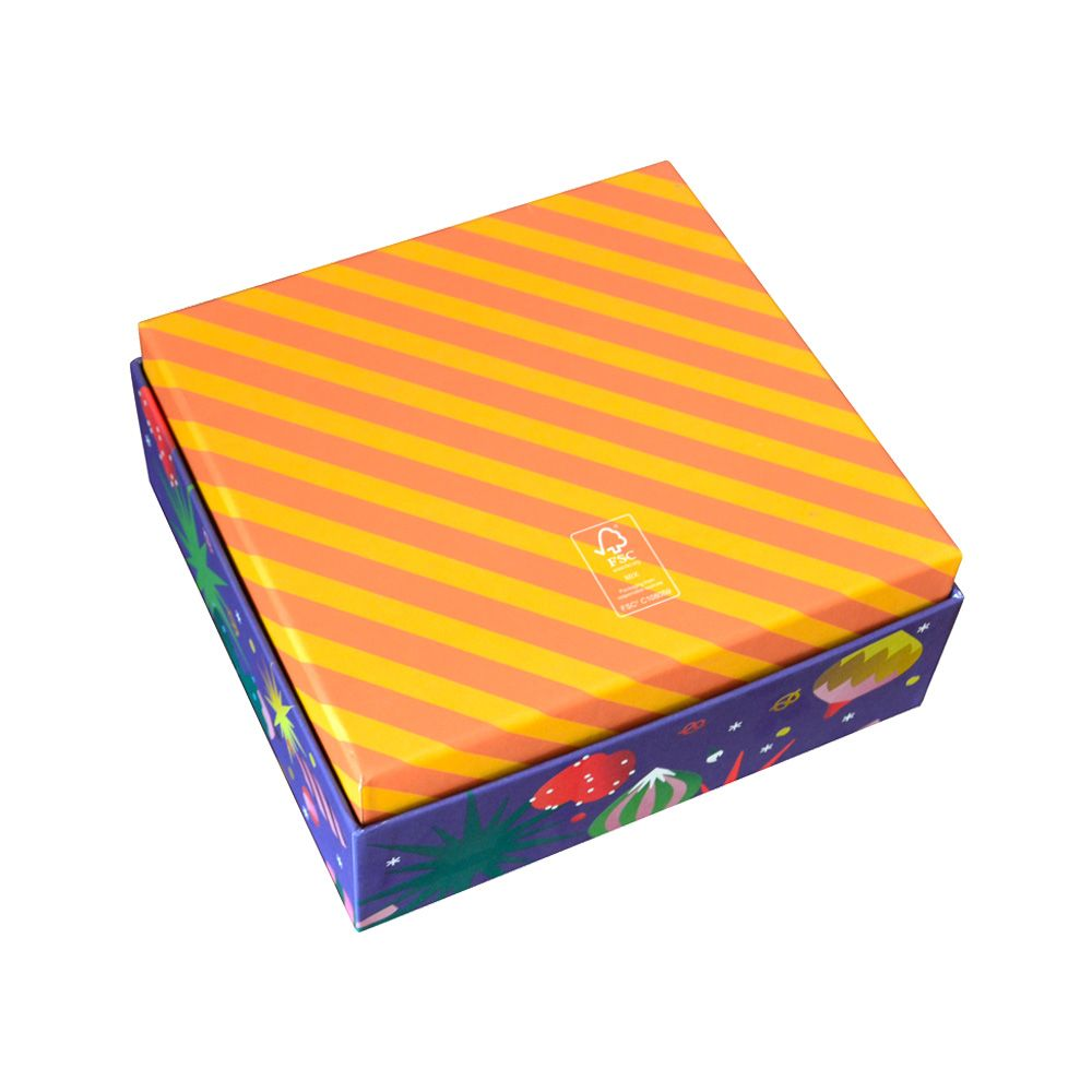 Lid and Tray Paper Food Packaging Boxes for Chocolate and Candy