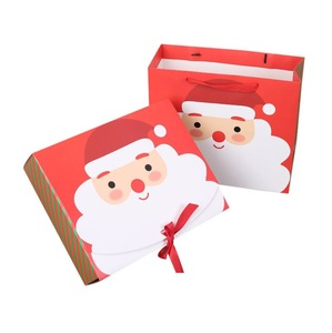 Manufacture accept Christmas of Santa box with paper bag
