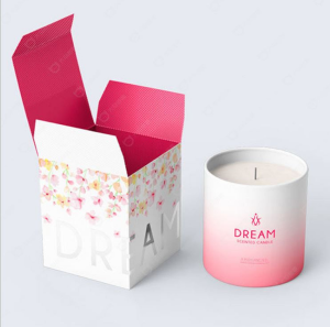 Wholesales custom design folding flat pack candle paper gift boxes for candles