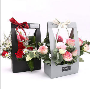 Customized Folding Luxury Paper Portable Flowers Box