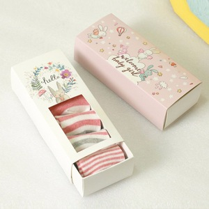 Baby Sock Rigid Drawer Packaging Gift Box with Window China Supplier