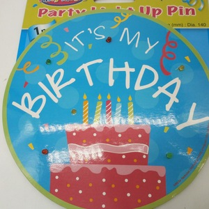 Happy Birthday Flashing Paper Led Light with Stand and Pin China Manufacturer