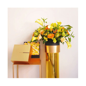 Luxury Gold Stamping Design Square Shape Paper Box Flower Rose Packaging Box For Gift