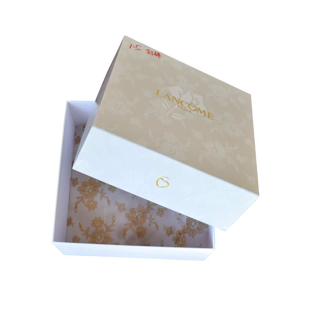 White Color Cosmetic Makeup Products Paper Packaging Boxes