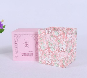 Customize High Quality Matt Lamination Cardboard Lid and Bottom Candle Jars Paper Boxes