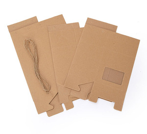Custom Gift Kraft Paper Foldable Packaging Boxes With Clear Window  Manufacturer For  Nuts Tea Dry Food  Wholesale