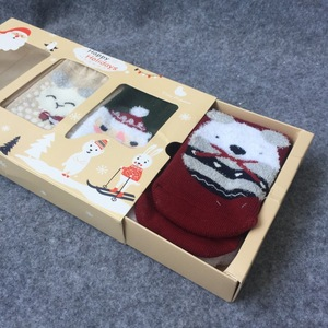 Cute Baby Rigid Gift Box for Kids Socks with Window China Manufacturer