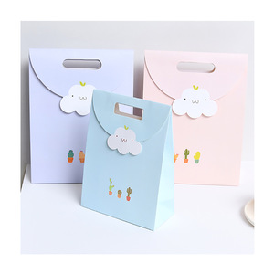 Pretty Cute Cloud Simple Style Custom Design Custom Colour Children Gift Paper Bag
