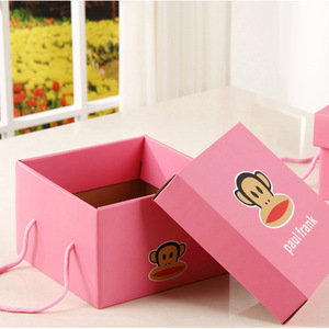 Custom square e flute corrugated paper carton box packaging gift clothes flower for shipping wholesale