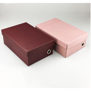 Wholesale Different Sizes Corrugated Paper Mounting Art Paper gift box Colorful Shoe Boxes