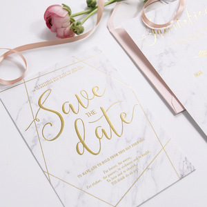 Custom luxury marble marbling gold stamping embossed paper card letter envelope manufacturer for chinese wedding invitation