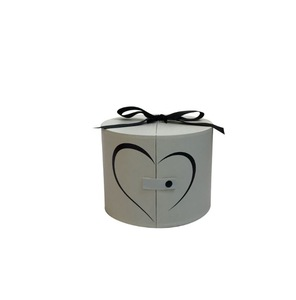 Nice Castle Round Double Flower Box Portable Flower Box Holding Bucket Cylinder Flower Gift Box