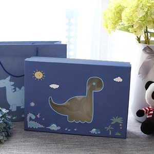 Cartoon Design Baby Gift Set Box with Clear Window for Toy and Clothes