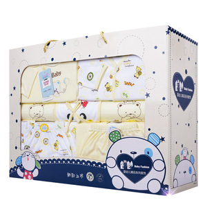 Sweet baby blanket gift box packaging with pvc window