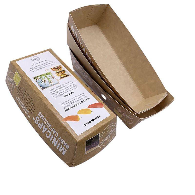 Biodegradable Environmentally Friendly Food Kraft Paper Sushi Boat Tray Manufacturer
