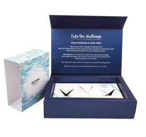 High-end Cosmetics Skin Care Rigid Packaging Gift Book-type Paper Box China Supplier