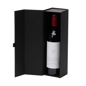 Magnetic Foldable Single Wine Packaging Box Champagne Package Box Paper Gifts Packing Box for Wine