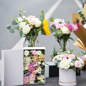Pretty Simple Design Huge Paper Box Custom Color Flowers Large Packaging Box For Gift
