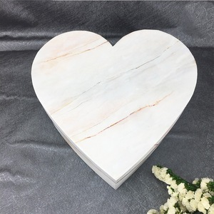 Custom Marble Design Luxury Heart Rose Flowers Gift Boxes With Gold Stamping