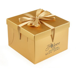 """Lid and Tray Rigid Birthday Cake Carrying Box with Ribbon 6"""" 10 """"12"""" 14 """""""