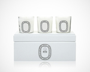 Custom luxury scented 3 unit candle jar set gift packaging white candle boxes for candles