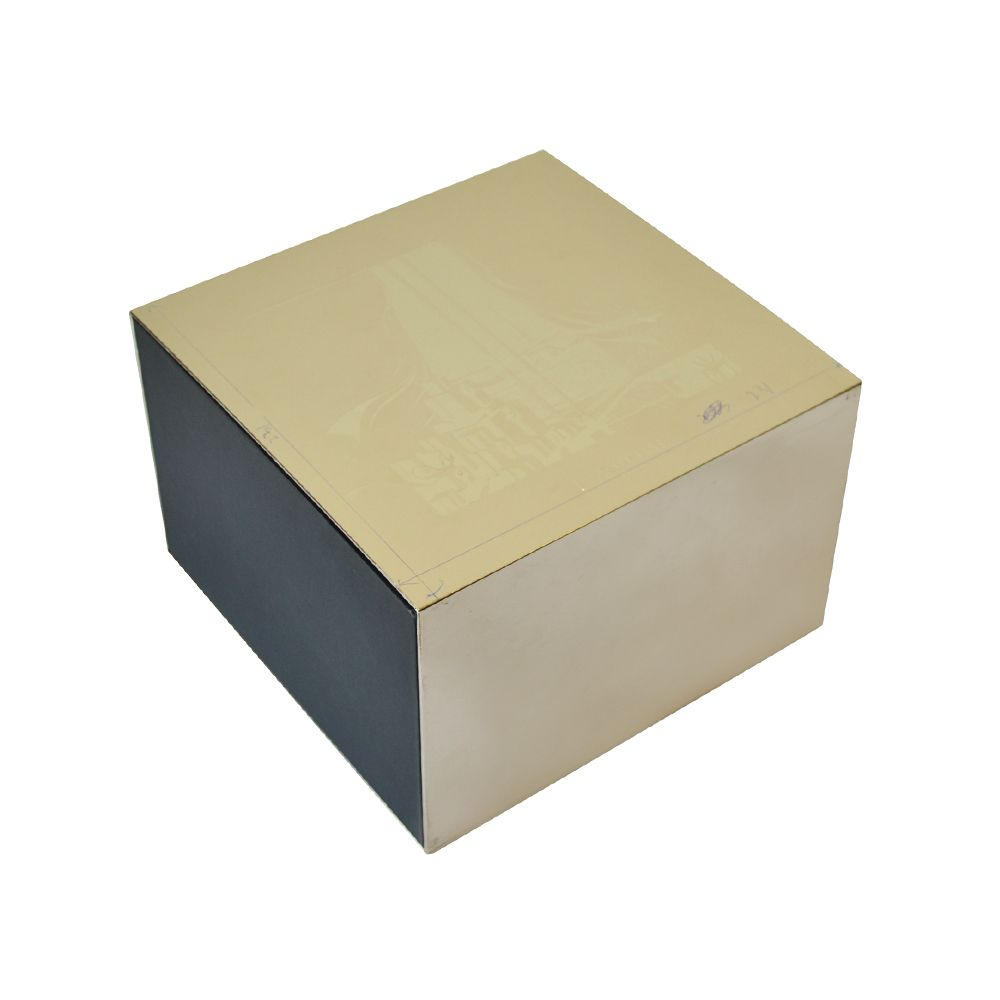 Clamshell Candle Paper Rigid Packaging Boxes Silver Hot Stamping