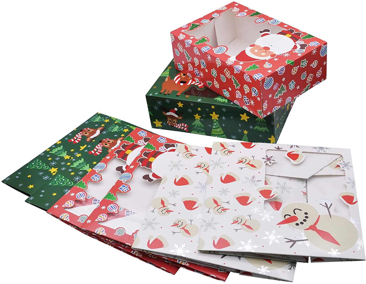 Art Paper Folding Christmas Holiday Packaging Boxes with Window China Wholesale