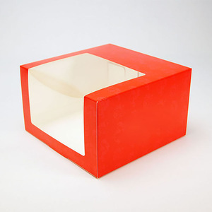 White Cardboard Paper Baseball Cap Packaging Box With Clear PET Window
