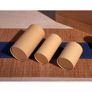 Professional Manufacturer Corrugated Kraft Cylinder Packaging Box With Lid