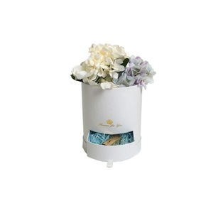 Whole sales of round valentine's day flower gift box with drawer for decoration pack with rose