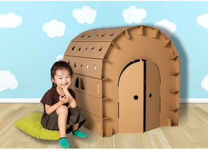 Custom Big Corrugated Paper House Shaped Pretend Play Toy Models Doll  Kids Educational Toy Manufacturer