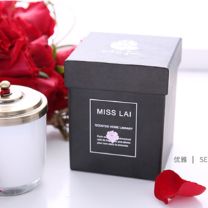Custom made luxury unique candle square boxes paper packaging gift wholesale