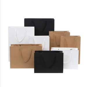 Elegant Custom Coated Rectangle White Kraft Cake Bags With Die Cut Handles Box And Velvet Pouches Durable Paper Bag