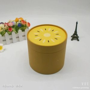 China factory promotional small  round cylinder tube gift paper rigid cardboard box packaging for candle for tea for coffee